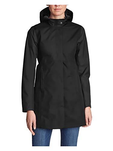 Eddie Bauer Women's Mackenzie Trench Coat, Black Petite L