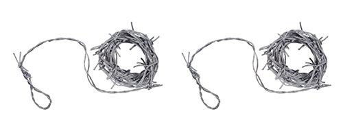Beistle S00115-SAZ2 barbed wire garland, Silver -