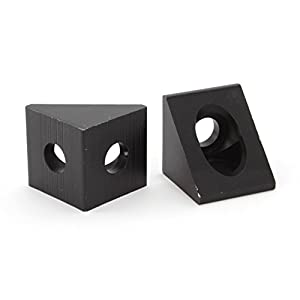 Black Angle Corner Connector for 20mm Aluminum Extrusion (Multi Packs) from Generic