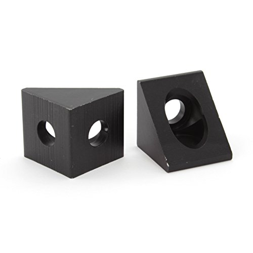 Black Angle Corner Connector for 20mm Aluminum Extrusion (8 - 20 Aluminum Angle