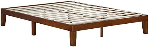 Zinus Wen 12 Inch Wood Platform Bed Frame / Solid Wood / Mattress Foundation with Wood Slat Support / No Box Spring Needed / Easy Assembly, Queen 31q8u9 w26L