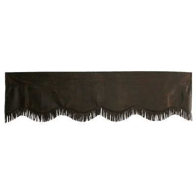 HiEnd Accents Western Faux Suede Valance