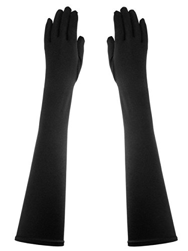 Above Elbow Semi-Opera Length 19-Inch Stretchy Shinny Satin Dress Gloves