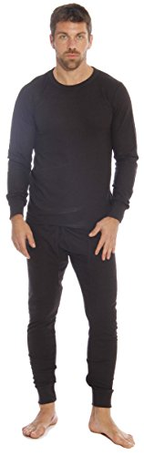At The Buzzer 95962-Black-L Thermal Underwear Set for Men