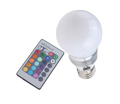 Awesome Onite LED E27 Dimmer Multi Color Changing 3W Bulb(RGB+Remote Controller)    Buy Online In UAE. | Products In The UAE   See Prices, Reviews And Free  Delivery ... Pictures Gallery
