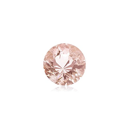 0.59-0.85 Cts of 6 mm AAA Round Morganite ( 1 pc ) Loose Gemstone