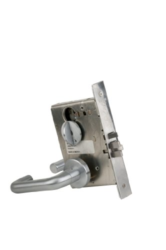 Schlage L9050P 03A 626 C123 Keyway Series L Grade 1 Mortise Lock, Office Function, C123 Keyway, 03A Design, Satin Chrome Finish