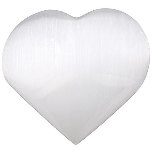 Shape Sacral (SUNYIK Natural Selenite Heart Pocket Stone,Healing Palm Crystal Pack of 1(2.2