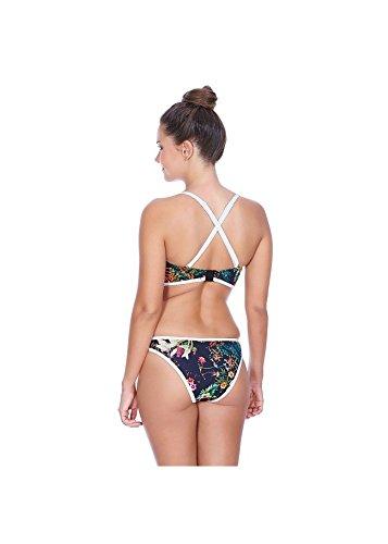 Estilo de traje de baño-americano partido apoyo tira con pecho pad impresión bikini traje de baño bikini