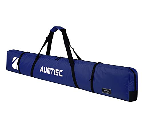 AUMTISC Single Ski Bag Travel Padded to Transport Skis Gear