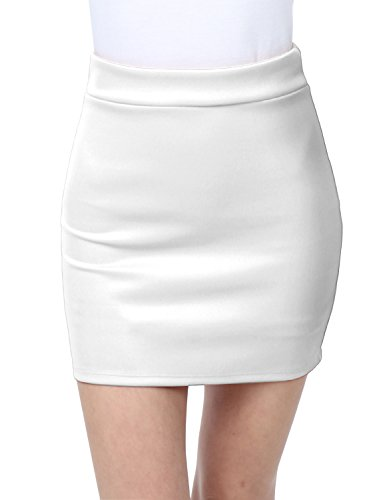 New LE3NO Womens Basic Solid Bodycon Pencil Mini Skirt supplier