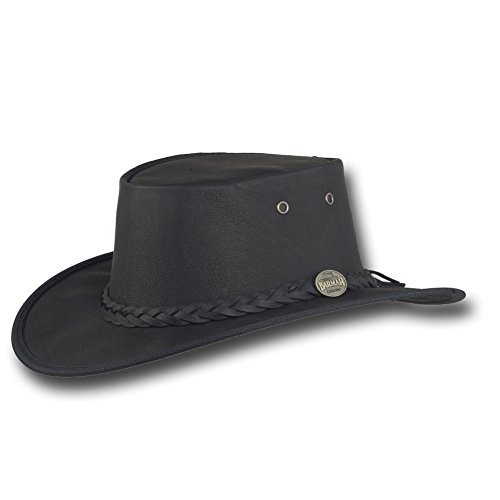 Barmah Hats Sundowner Kangaroo Leather Hat 1019Bl 1019Br 1019Sa   Black   Xxlarge