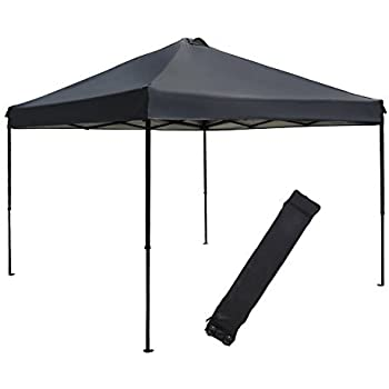 this item abba patio 10 x 10feet outdoor pop up portable shade instant folding canopy with roller bag dark grey