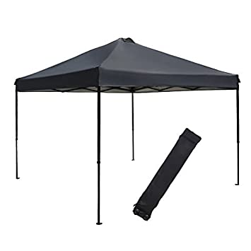 abba patio 10 x 10feet outdoor pop up portable shade instant folding canopy with