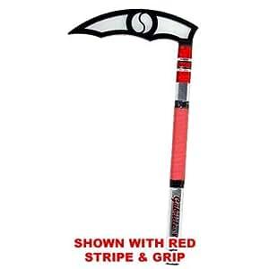 Black Blade - Dark Elite Adult Kama - Karate Taekwondo (Orange Stripe & Grip)