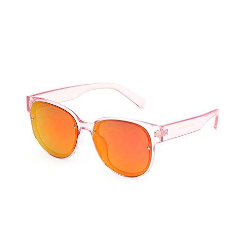 de Redondas polarizadas Gafas 4 de Retro Gafas Sol Sol Gafas DT Transparentes de 1 Gafas Sol ovales de Sol Color Xaqnxf