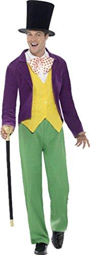 Smiffy's Roald Dahl Willy Wonka Costume Multi Chest 42
