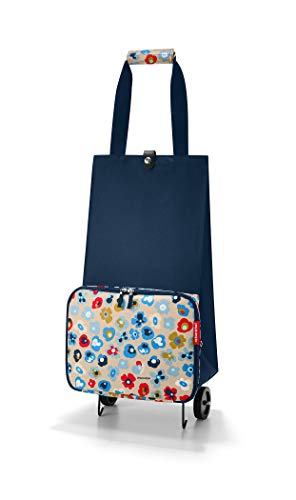reisenthel Foldable Trolley Bag, Packable Oversized Tote with Wheels, Millefleurs