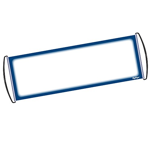"""Roll Scroll (ZipSign Dark Blue Dry Erase Banner Rolls Itself Up, Unrolls to 9.5"""" x 27"""", Reusable, Handheld, Portable, Fits In Your Pocket – Great for Sports, Concerts, Cheer - 1-Year Warranty)"""