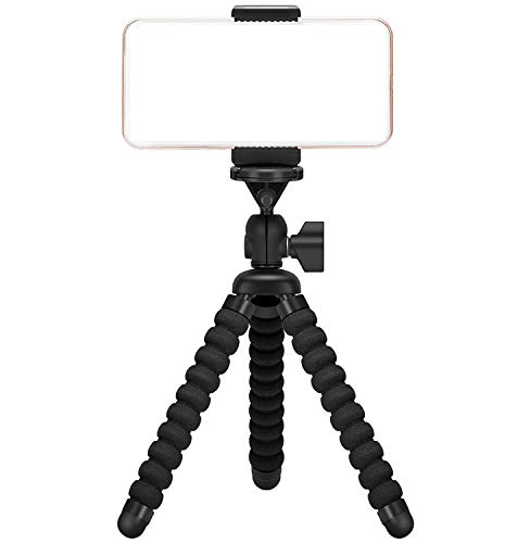 Ailun Phone/Digtal Camera Tripod,Tripod Mount/Stand,Phone Holder,Compatible with iPhone X/Xs/XR/Xs Max/8/7/7 Plus,6s,Digtal Camera,Galaxy s10s10 Plus S9+/S8/S7/S7 Edge,Camera and More[Black]