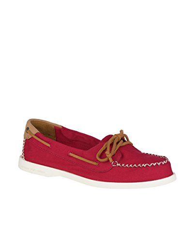 Sperry Top-Sider Women's a/O Venice Canvas Boat Shoe Red discount for nice gLPcn7B