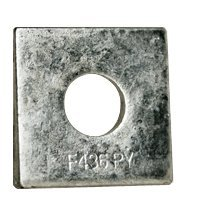 7/8'' Square Beveled F436 Hardened Washer Hot Dip Galvanized (HDG) (Quantity: 240 pcs) - Inside Diameter: 7/8'' inches