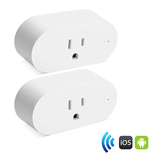 Smart Wifi Plug 2 Pack,ZTHY Mini Wifi Socket Outlet with Energy Monitoring, Work with Alexa Google Assistant, Control Your Devices from anywhere With Power Consumption Measurement (2 Packs)