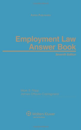 Employment Law Answer Book 2010 Cumulative Supplement