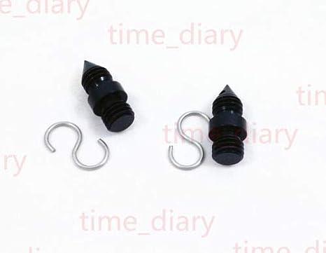 New 2PCS Plumb Bob Hook and prism adaptor 5//8x11 thread for mini Prism