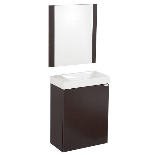 well-wreapped Domani Monza 15-1/2 in. Colorpoint Composite Vanity with Vanity Top and Mirror