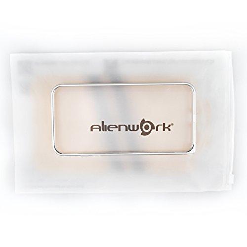 Alienwork Schutzhülle für iPhone 7 Ultra-flach Hülle Case Bumper Aluminium silber AP703-02