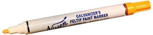 nissen-gfye-galvanizers-feltip-paint-marker-yellow-pack-of-12-color-yellow-model-gfye-outdoor-hardwa