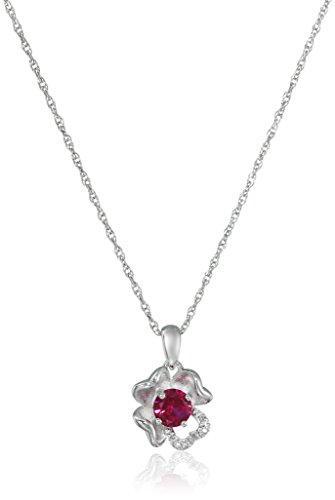 Sterling-Silver-Created-Ruby-and-Diamond-Accent-Flower-Pendant-Necklace-18