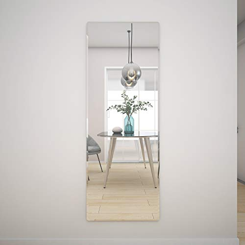 Honyee The Better Bevel Frameless Rectangle Wall Mirror Wall-Mounted Full Length Mirrors -