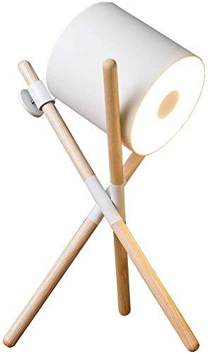 Escritorio Lámpara LED Piel Abeja blanca de la nuez lámpara de ...