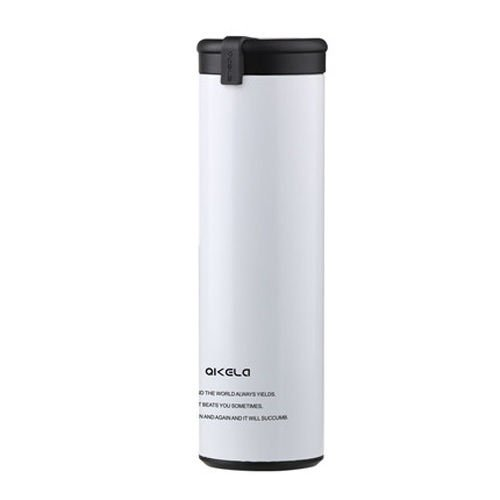 White Quality Double Wall Coffee Tea Water Flask Cup Warm Travel Mug