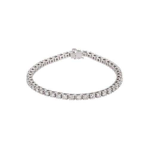 14k White Gold Diamond Bracelet 4 1/2ct