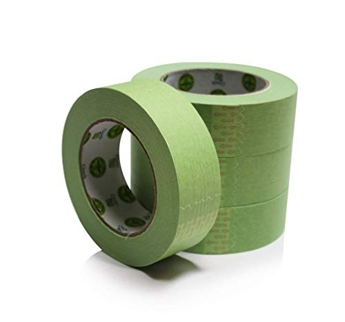 (Insta Finish New Easy Stick, Easy Release Green Masking Tape for Automotive and Industrial Painting (1.5 inch x 60 Yards (1 case of 24)