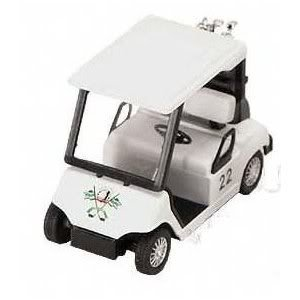 Motor Golf (Toy / Game Kinsmart White Pull Back Golf Cart Superior With Plastic Parts - For Pullback Motor Action)