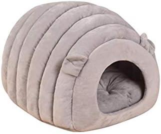 Cama de Perro Nido Mascota Gato Funcional casa de Perro caseta casa Cama Gato Lavable Algodón Nido Perro Cálido Nido