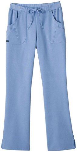 (Jockey Classic Fit Womens Rib Trim Combo Comfort Scrub Pant (Ceil, X-Small))