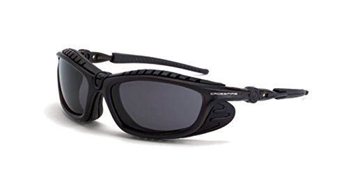 Crossfire Eyewear 2641 AF Eclipse Foam Lined Safety Glasses with Black/Smoke AF