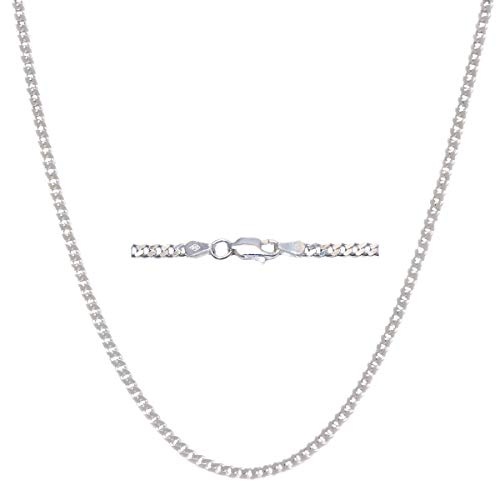 Pori Jewelers Solid 925 Sterling Silver Cuban Chain Necklace - Made in Italy - 2.8mm, 4.5mm, 6mm, 7mm, 8mm, 8.5mm, 10.5mm, 12mm-Heavyweight Silver- Mens or Ladies Curb Chain (24, - Chain Link Ladies