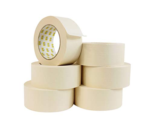 General Purpose Roll - WOD GPM-63 Masking Tape 2 Inch for General Purpose/Painting - Case of 24 Rolls - 60 Yards per roll