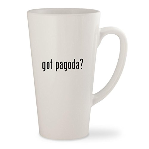 got pagoda? - White 17oz Ceramic Latte Mug (Pagoda Fire Pit)