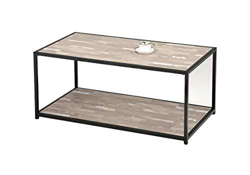 nouveau produit c997b 83816 Meubletmoi Table Basse rectangulaire Pied métal - Plateau ...