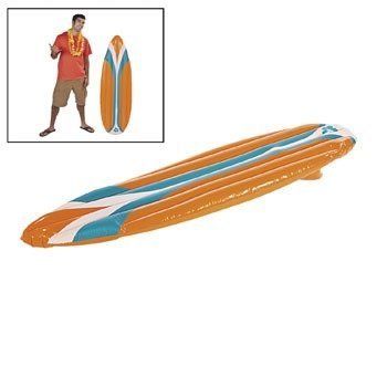 Fun Express - Inflatable Surf Board - Toys - Inflates - Inflatable Decor - 1 Piece