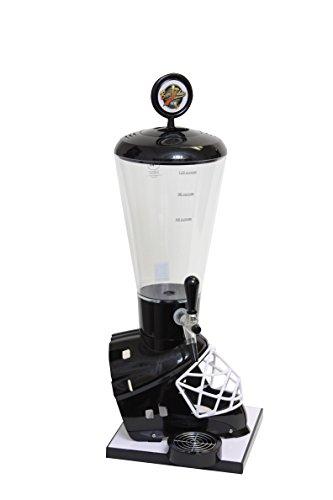 Beer Tubes Black Hockey Helmet Beverage Tower Dispenser with Commercial Tap, 128 oz.Super Tube   HBK-ST-C by Beer Tubes