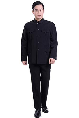 Moda tasca Multi Costume Cinese Set 02 Bavero Pantaloni Vestito Di Moda Giacca Maschile Tunica Bozevon Stile 07YRPHWY