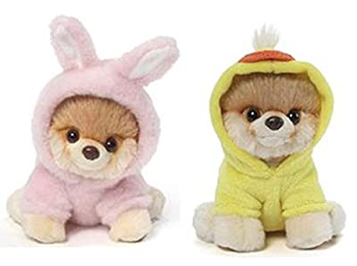 GUND Itty Bitty Boo Bundle of 2, Bunny and Easter Duck